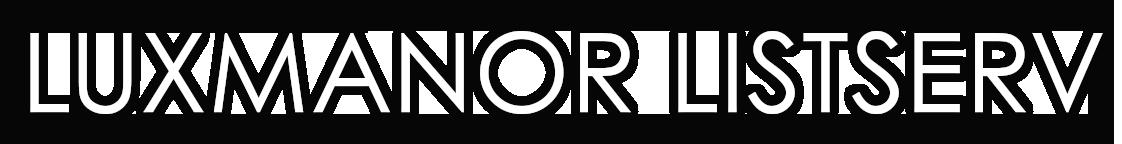 Luxmanor ListServ Sticky Logo Retina